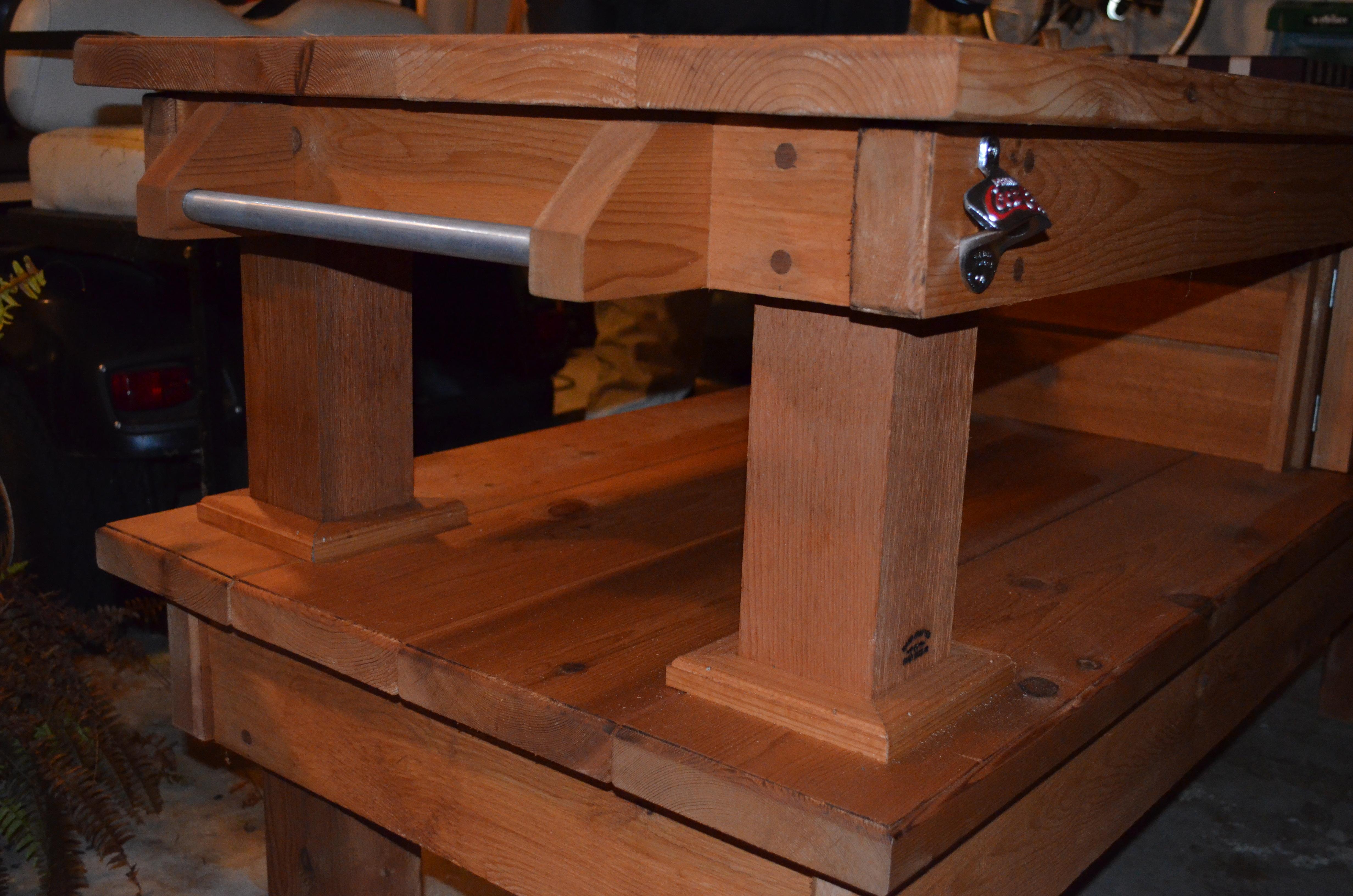 Custom Big Green Egg Table Cedar Custom Woodworks By Chad