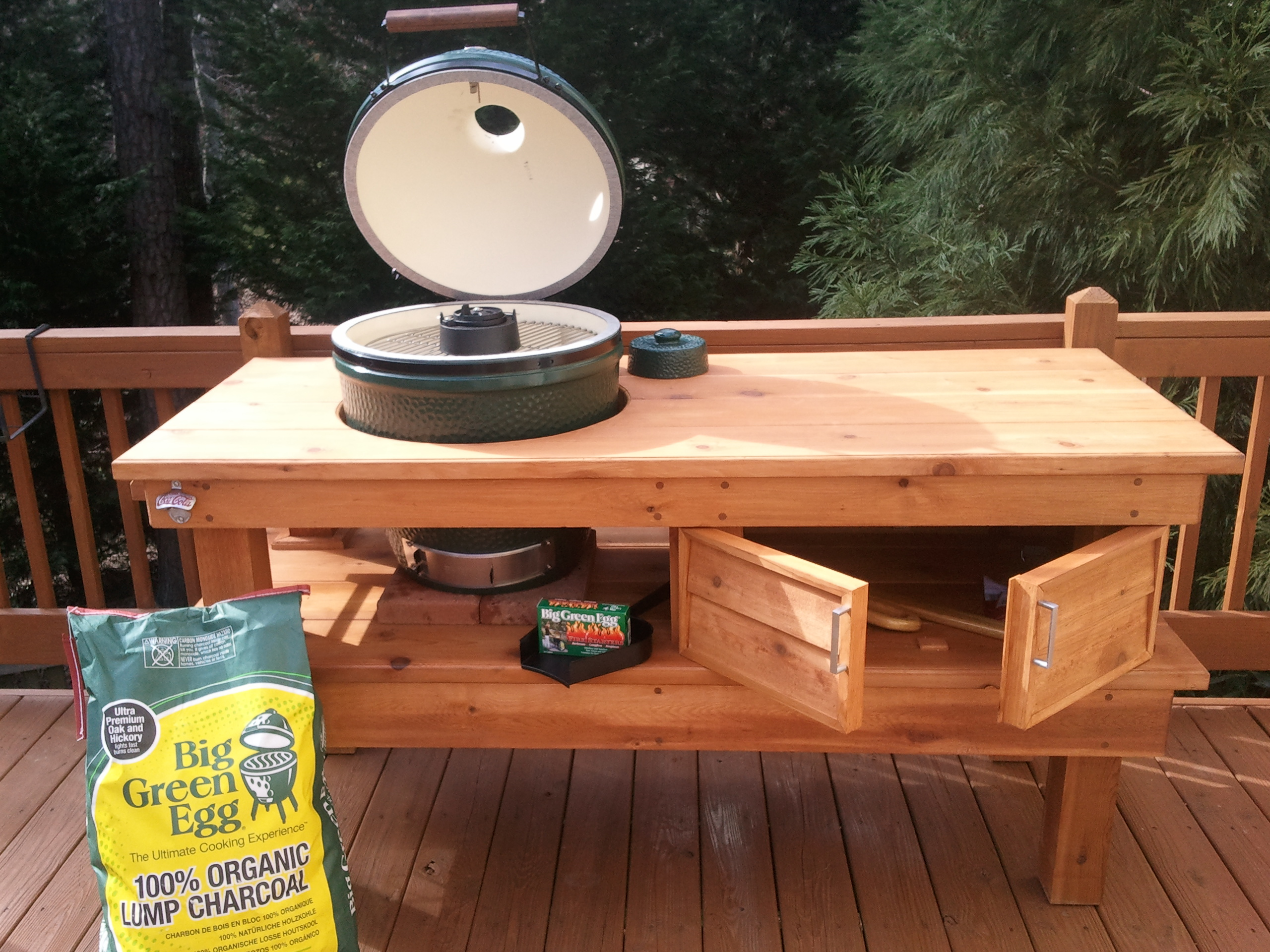 big green egg table plans video