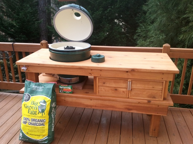 Making Table For Big Green Egg Plans Diy How To Make